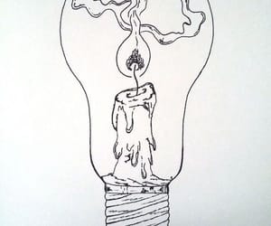 candle, art, and drawing image