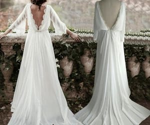 vintage wedding dress and long sleeve bridal gown image