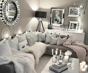 home, decoration, and couch image