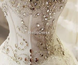wedding dress, bridal dress, and princess wedding dress image