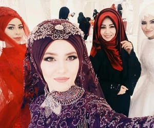 bride, hijab, and party image