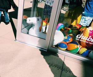 beach ball, los angeles, and mall image