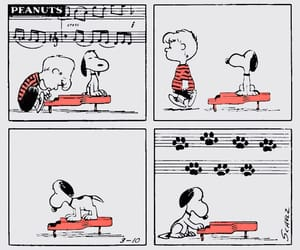 Beethoven, music, and peanuts image