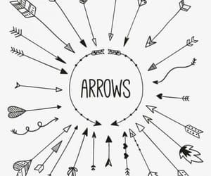arrow, doodle, and art image