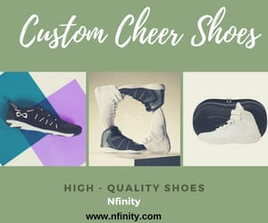 nfinity, customshoes, and cheershoes image