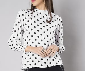 blouse, women's top, and ruched sleeve image