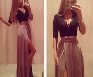 fashion, prom dress, and maxi dress image