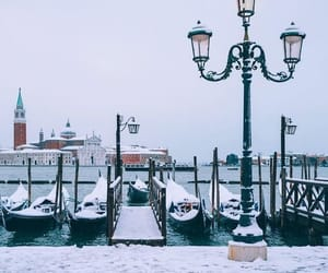 boats and snow image