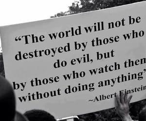 quotes, evil, and Albert Einstein image