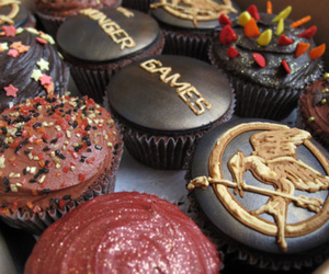 food, cupcake, and the hunger games image