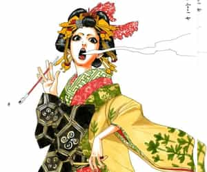 geisha, moyoco anno, and illustration image