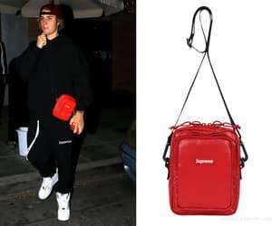 shoulder bag, bieber fashion, and style image