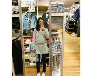 happy, uniqlo, and shopping image