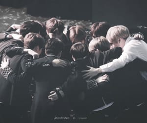 group hug and wanna one image