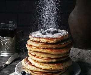 gif, pancakes, and blueberry image