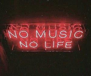 music, life, and neon image