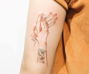 tattoo, art, and hands image