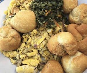 food, jamaican, and ackee and saltfish image