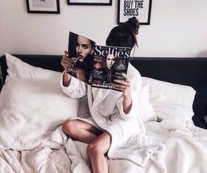 girl, magazine, and white image