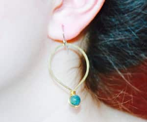 etsy, fashion, and hoop earrings image