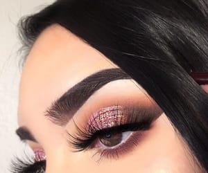 eyes, makeup, and brown eyes image