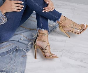 nails, shoes, and denim image