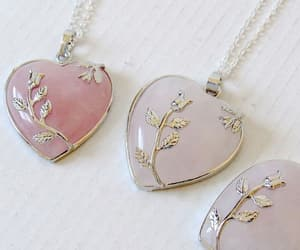 heart, necklace, and pink image