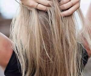 blonde, ponytail, and bun image