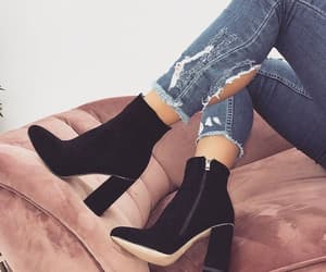 black, girly, and shoes image