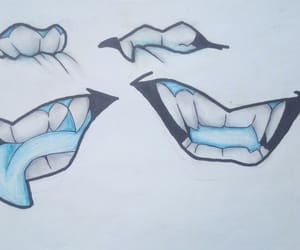 blue, body parts, and mouth image