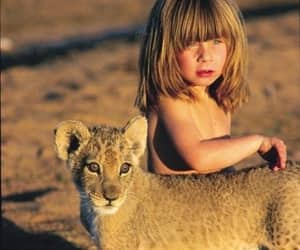 cat, wild, and girl image