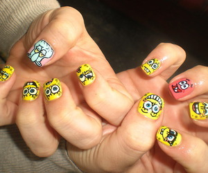 amarelo, nails, and spongebob image