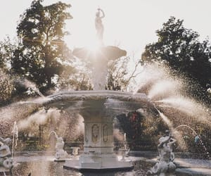 nature and water fountain image