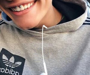 boy, piercing, and smile image