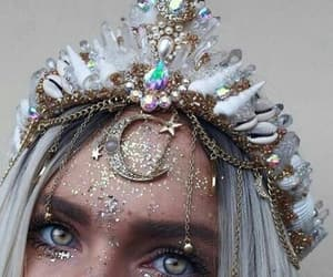crown, aesthetic, and eyes image