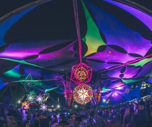 night, psychedelic, and rave image