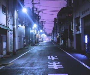 purple, street, and aesthetic image