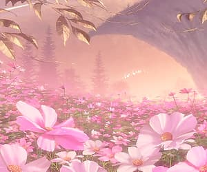 anime, flowers, and nature image
