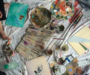 art, paint, and aesthetic image