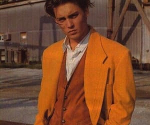 johnny depp, yellow, and 90s image