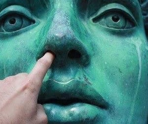 statue, green, and grunge image