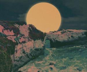 art, Ilustration, and moon image