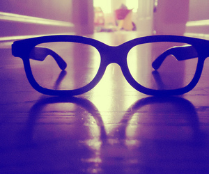 glasses, hipster, and light image