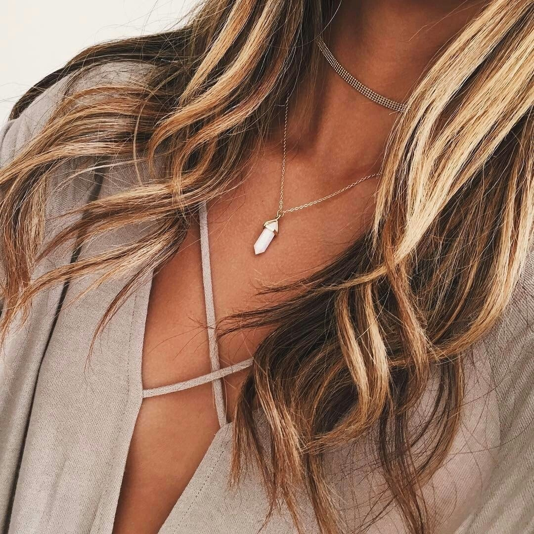 blonde, necklace, and hair image