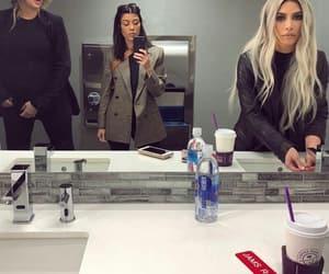 bathroom, K, and mirror image