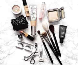 beauty, makeup, and marble image
