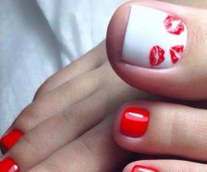 nails, pedicure, and pedi image