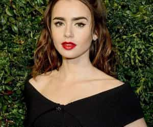 lily collins, fashion, and makeup image