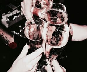 dark, champagne, and drinks image