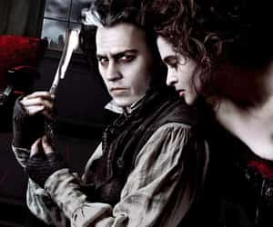 johnny depp, sweeney todd, and tim burton image